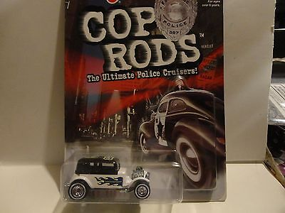 Hot Wheels Cop Rods Series 1 Syracuse NY '32 Ford Vicky w/Real Riders