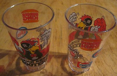 """Ottawa Rough Riders """"Rider Rooter"""" Glasses (SET of 2 - unused - new old stock)"""