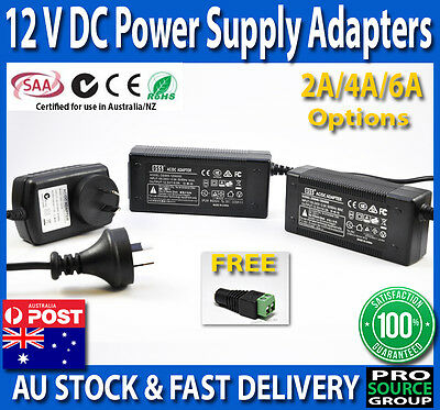 2A 4A 6A 12V DC SAA Power Supply Charger Adapter Transformer 3528 5050 LED Strip
