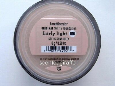 Bare Escentuals BareMinerals Original Foundation Fairly Light N10 8g UNOPENED XL