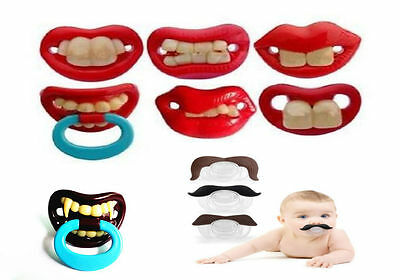Funny Dummy Dummies Pacifiers Baby Novelty Joke Maternity Toddler Child Teething