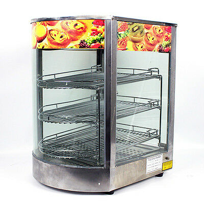 New MTN Commercial Stainless Steel Countertop Food Pizza Display Wamer 20x17x14