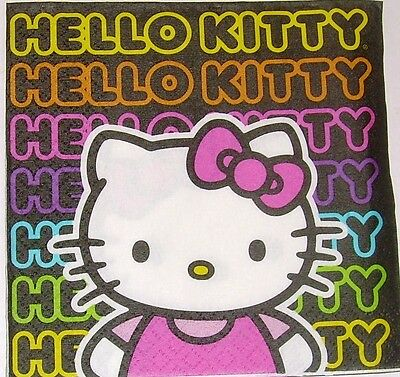 TWO Hello Kitty Napkins for Decoupage and Paper Crafts