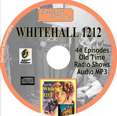 WHITEHALL 1212 - 44 Old Time Radio Shows - Audio MP3 CD