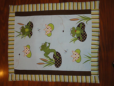 Baby Quilts Handmade/Homemade Froggy Hop
