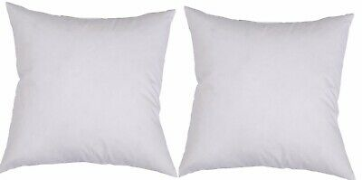Two 50x50cm Cushion Inserts, Aust Made White Hypoallergenic Fibre Free Postage