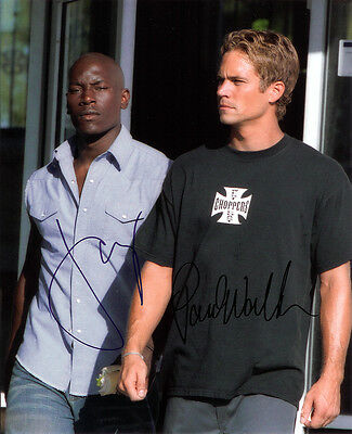 FAST AND THE FURIOUS CAST SIGNED 8X10 PHOTO RP PAUL WALKER