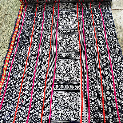 VINTAGE HMONG COTTON FABRIC AND TEXTILES HANDMADE ,TABLE RUNNER