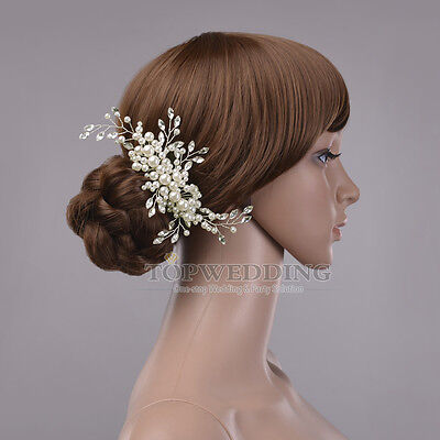 Jewelry Pearl Bridal Hair Comb Clip Pin Wedding Party Hair Accessory
