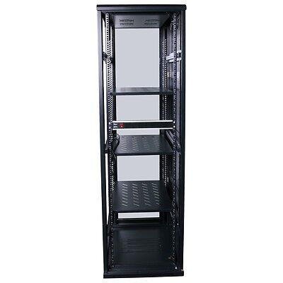 "42RU 42U 19"" 19 Inch 1000mm Deep Free Standing Server Rack Data Network Cabinet"