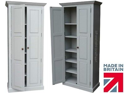 Solid Pine Cupboard, 2 Metre Tall Painted Kitchen, Larder, Storage, Cabinet Unit