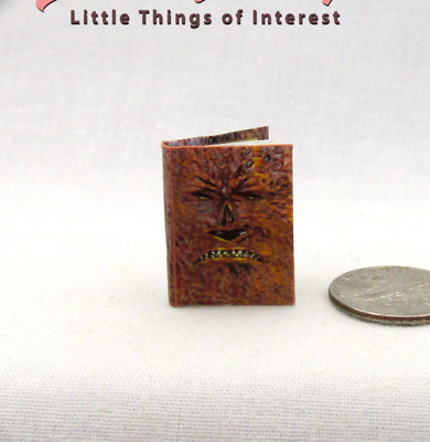 BOOK OF THE DEAD Dollhouse Miniature Book 1:12 Scale Illustrated Book Evil Dead