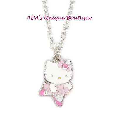 Hello Kitty Ballerina Necklace Ballet Pendant Sanrio Pink Dance Tutu NWT