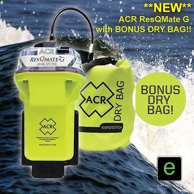 **NEW MODEL** ACR ResQMate G EPIRB (ALTERNATIVE TO MT600G) with BONUS DRY BAG