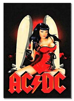 ACDC Sexy Lady Fresco Retro Vintage Old Music Rock Classic Picture Poster