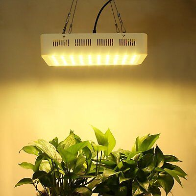 PopularGrow Full Spectrum 300W LED Grow Light Indoor Plant Actual Power 130W±5%