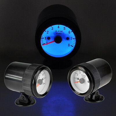 "Car Vehicle 2"" TACHO Meter 8000 RPM TACHOMETER INDICATOR GAUGE AU Seller"
