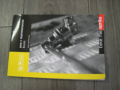 Aprilia Rx50 / Sx 50 - Manuel Utilisateur  Owner's Manual,it/sp/fr/de