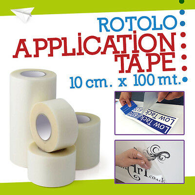 APPLICATION TAPE 10 cm x 100 metri, vinile adesivo, intaglio, roland 51734