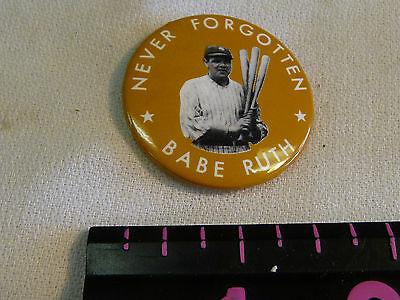 "Reproduction BABE RUTH Baseball Club /& Never Forgotten 1.5/"" Pin LOT of 12 NM 9.4"