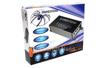 Soundstream ST4.1000D 500 Watts Compact 4-Channel Motorcycle Audio Amplifier