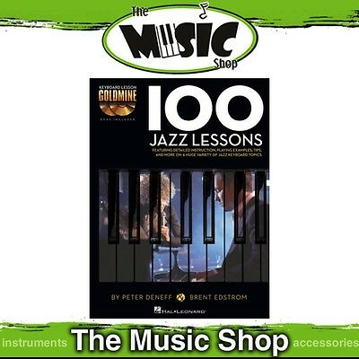New '100 Jazz Lessons' Keyboard Lesson Goldmine Music Tuition Book with 2x CDs
