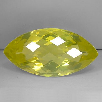 73.84 Ct Certified Dazzling Marquise Cut Natural Yellow Quartz