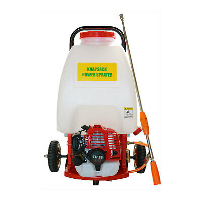 25L Weed Sprayer Petrol Engine  with Wheels Garden Chemical Spray Trolley