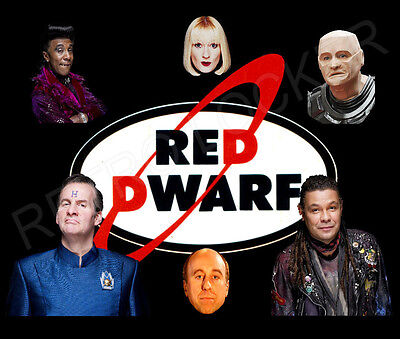 Classic Retro High Quality TV Red Dwarf  Mousemat Pad Lister, Rimmer And Gang