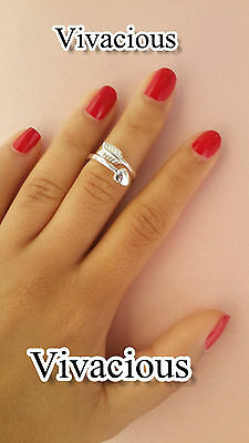 Exquisite 925 Sterling Silver Arrow Heart Midi Ring Above Knuckle Adjustable