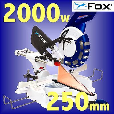 FOX F36-258DB 240v 250mm 10 LASER guided Sliding Double Bevel Compound Mitre Saw