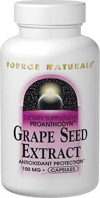 Grape Seed Extract (Proanthodyn), 100mg, 60 capsules, Source Naturals
