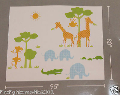 Decal Decor Safari Silhouette Wall Stickers Decals extra large 95x80 new