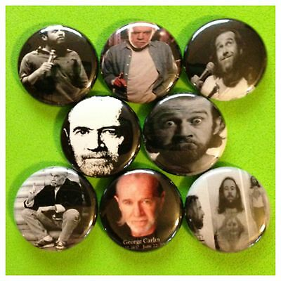 GEORGE CARLIN 1in buttons HBO COMEDY CENTRAL DIRTY WORD