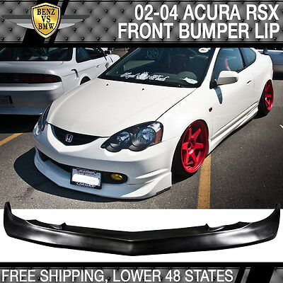 02 03 04 Acura RSX Mugen Style Poly Urethane Front Bumper Lip Spoiler Bodykit