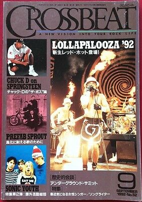 CROSSBEAT Japan Magazine 9/1992 Red Hot Chili Peppers Prefab Sprout Helmet Ride