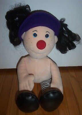 "BIG COMFY COUCH Loonette The Clown 22"" Tall Stuffed Doll Molly's Friend 1995 HTF"