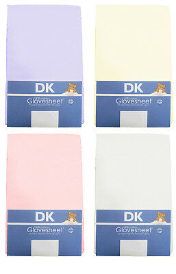 Super Soft Jersey Cotton TOP QUALITY DK Fitted Cot Sheet 127x63cm