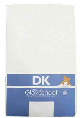 Super Soft Jersey Cotton DK Fitted Sheet To Fit Boori Cot Bed 132 x 77cm