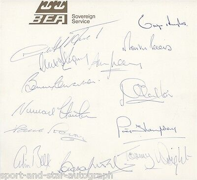 England Squad 1970's SIGNED AUTOGRAPHS inc. Bobby Moore Emlyn Hughes AFTAL