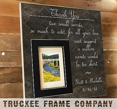 Personalized frame - Parents Wedding Gift, Thank You Gift, Gifts for The Bride