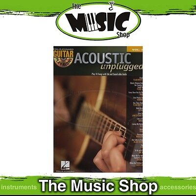 New Acoustic Unplugged Guitar Play Along Book & CD - Volume 37