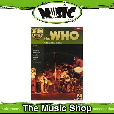 New The Who Drum Play Along Music Book & CD - Volume 23