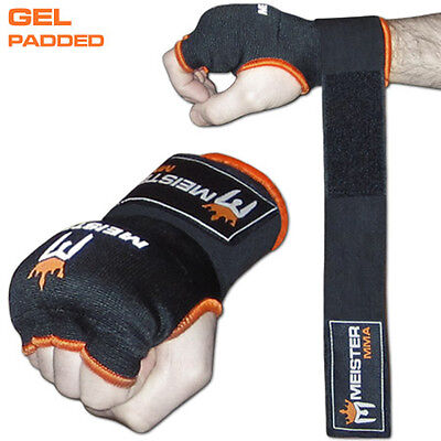 MEISTER GEL PADDED PROWRAPS Inner Hand Wrap Gloves - MMA Boxing Wrist Fight PAIR