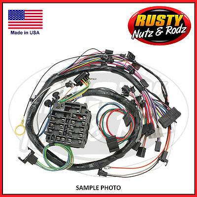 21 circuit ez wiring harness mini fuse chevy ford hotrods 57 chevy dash wiring harness deluxe w radio heater