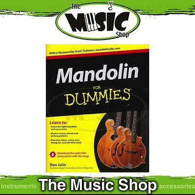 New Mandolin for Dummies Music Tuition Book with Online Audio Access