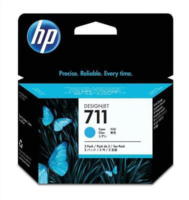 HP 711 (Volume: 29ml) Cyan Ink Cartridge Pack of 3