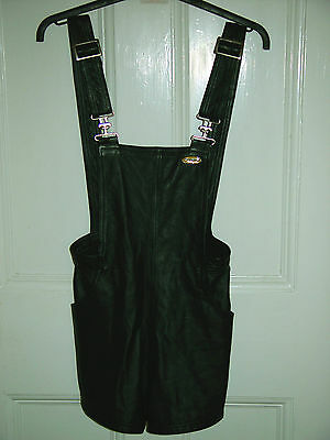 LADIES HARLEY DAVIDSON LEATHER OVERALL SHORT SIZE XS - UNUSED - NEW