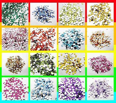 800pcs 4mm Acrylic Crystal Round Faceted Flat Back Rhinestones Beads DIY Jewelry