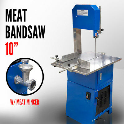 Meatsaw Electric Bandsaw w/ Mincer Meat Saw Cutting Meat Mincer Sausage Grinder